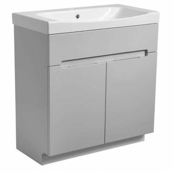 Roper Rhodes Diverge 800mm Freestanding Unit with Ceramic Basin Gloss Light Grey