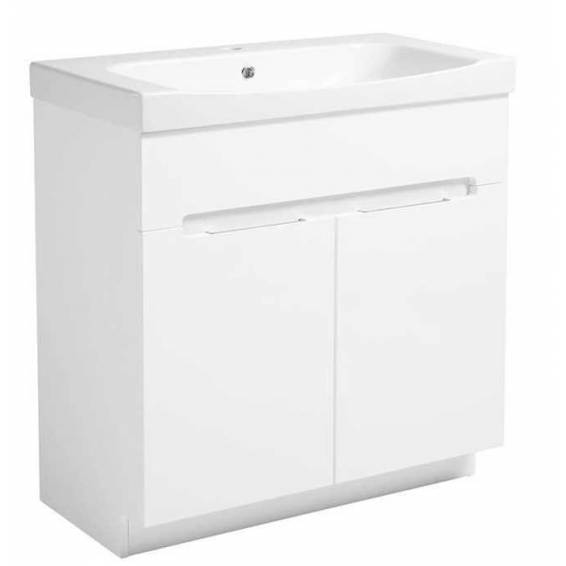 Roper Rhodes Diverge 800mm Freestanding Unit with Ceramic Basin Gloss White