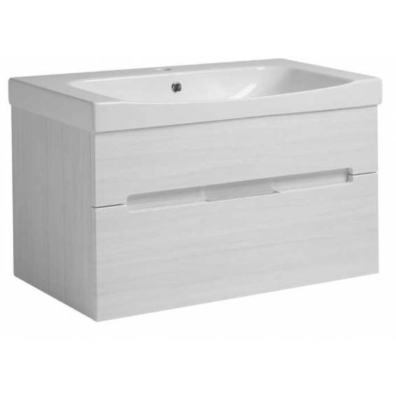 Roper Rhodes Diverge 800mm Wall Mounted Unit with Ceramic Basin Alpine Elm