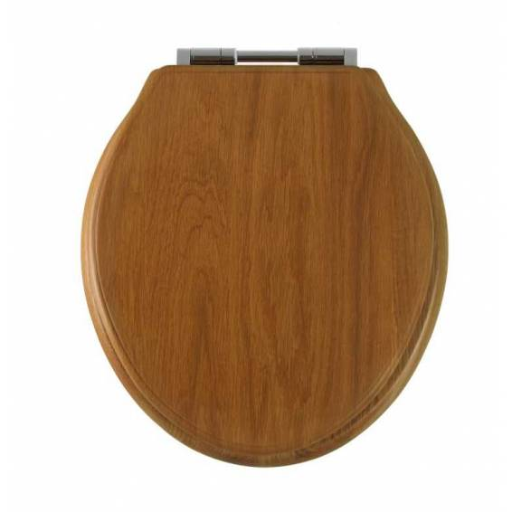 Roper Rhodes Greenwich Honey Oak Solid Wood Toilet Seat with Soft Close Hinges