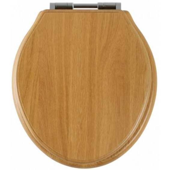 Roper Rhodes Greenwich Oak Solid Wood Toilet Seat with Soft Close Hinges