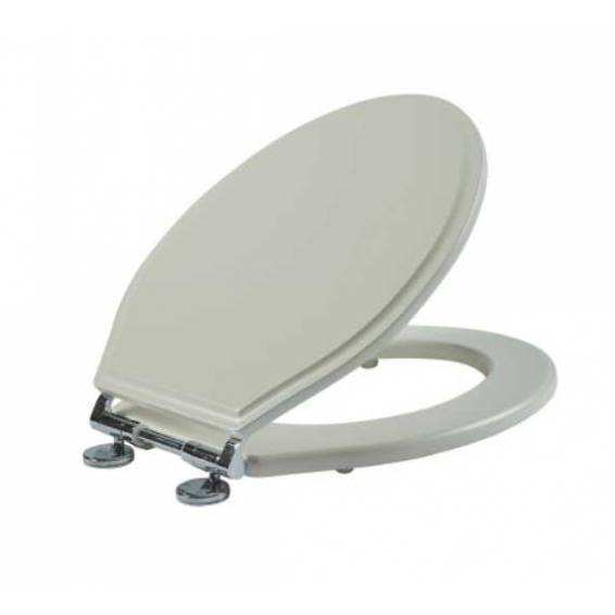 Roper Rhodes Hampton Wooden Soft Close Toilet Seat Painted Chalk White
