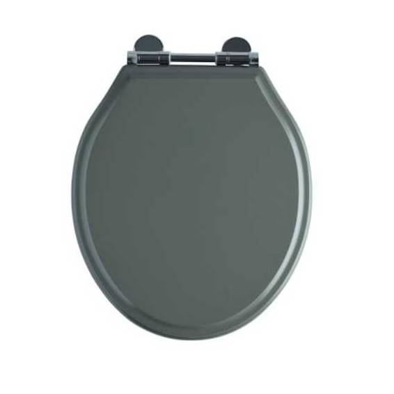 Roper Rhodes Hampton Wooden Soft Close Toilet Seat Painted Pewter