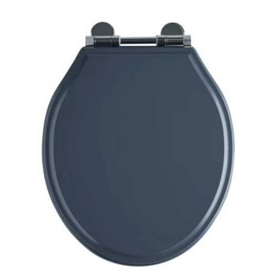 Roper Rhodes Hampton Wooden Soft Close Toilet Seat Painted Slate Grey