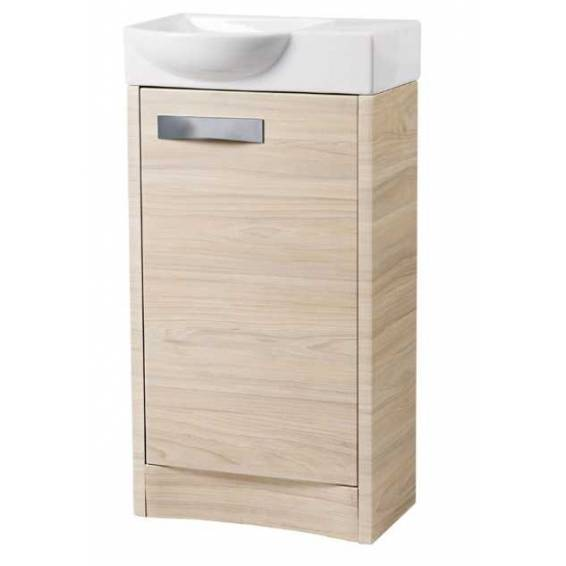 Roper Rhodes Mia 450mm Freestanding Unit with Basin Light Elm