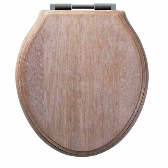 The Roper Rhodes Traditional Limed Oak Solid Wood Toilet Seat With