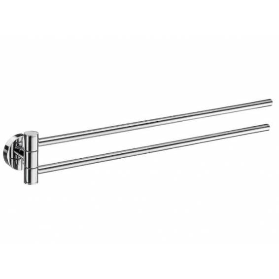 Smedbo Home Swing Arm Towel Rail Polished Chrome 440mm