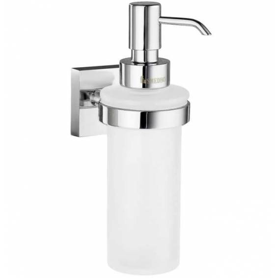 Smedbo House Holder with Glass Soap Dispenser Polished Chrome