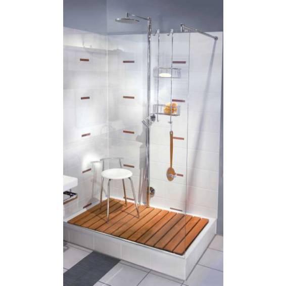 Smedbo Sideline Double Shower Basket Polished Chrome 217 x 130 x 765mm