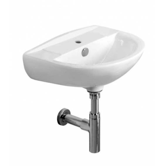 Tavistock Micra 450mm Ceramic Basin Wall Hung with Bottle Trap