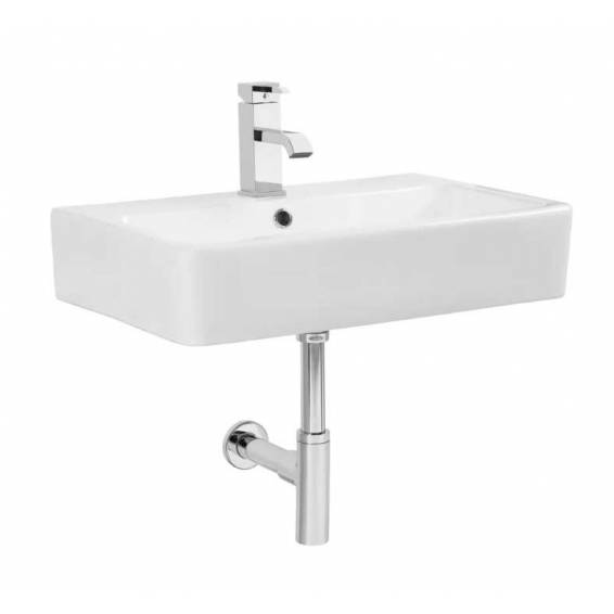 Tavistock Q60 570mm Ceramic Wall Hung Basin with Bottle Trap