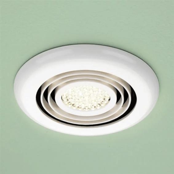 HIB Turbo Inline Illuminated White Fan Warm White LED