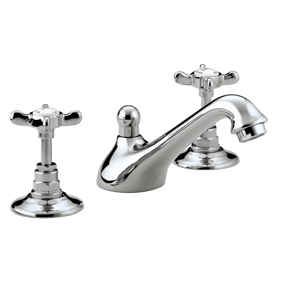 Bristan 1901 Three Hole Basin Mixer with Pop Up Waste Chrome