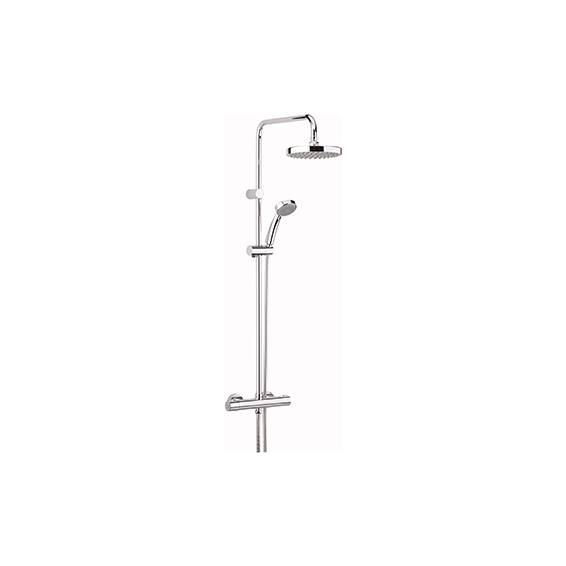 Bristan Carre Thermostatic Exposed Shower with Fixed & Adjustable Heads