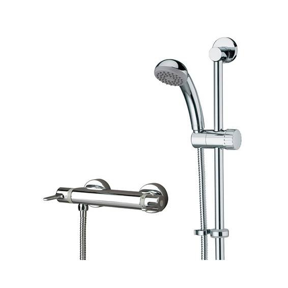 Bristan Design Thermostatic Exposed Bar Shower with Adjustable Riser Kit