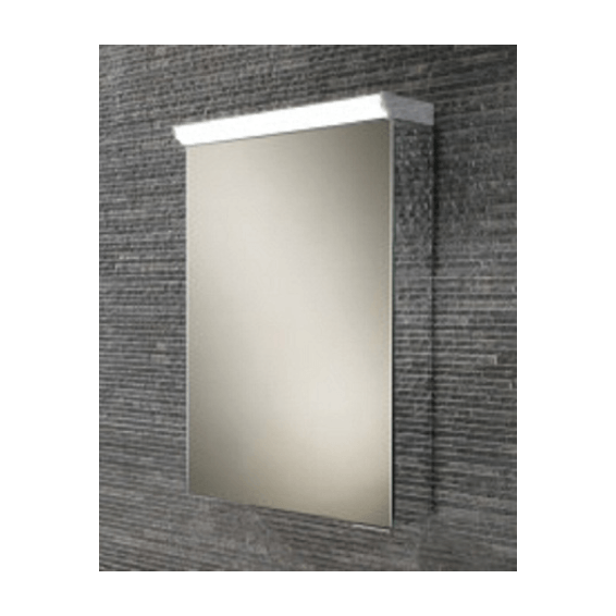 HIB Flux LED Aluminium Bathroom Cabinet with Mirrored Sides 400 x 600mm