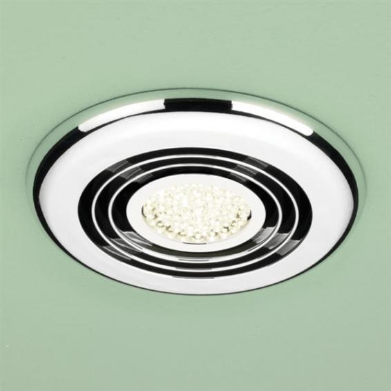 HIB Turbo Inline Illuminated Chrome Fan Warm White LED