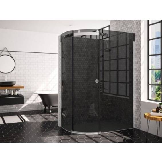 Merlyn 10 Series 1 Door Offset Quadrant Enclosure Left Hand Smoked Glass with Tray 1200 x 900mm