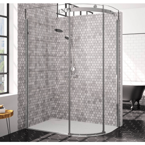 Merlyn 10 Series 1 Door Offset Quadrant Shower Enclosure Right Hand 1200 x 900mm