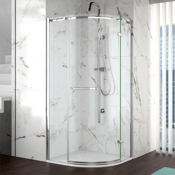Merlyn 8 Series 1 Door Quadrant Frameless Shower Enclosure with Tray 1000 x 1000mm