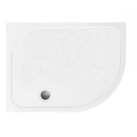 Merlyn MStone Offset Quadrant Shower Tray with Waste Right Hand 1200 x 800mm