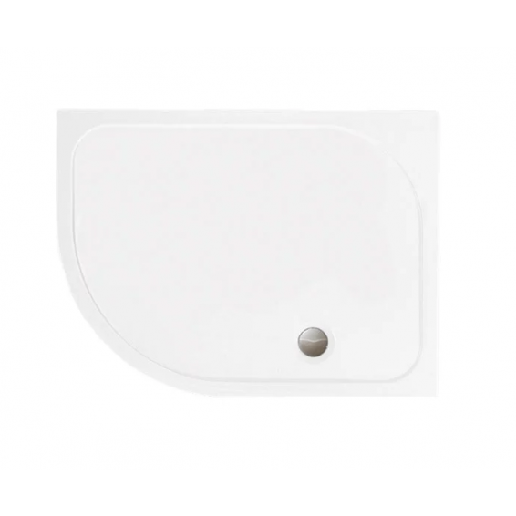 Merlyn MStone Offset Quadrant Shower Tray with Waste Left Hand 1200 x 800mm