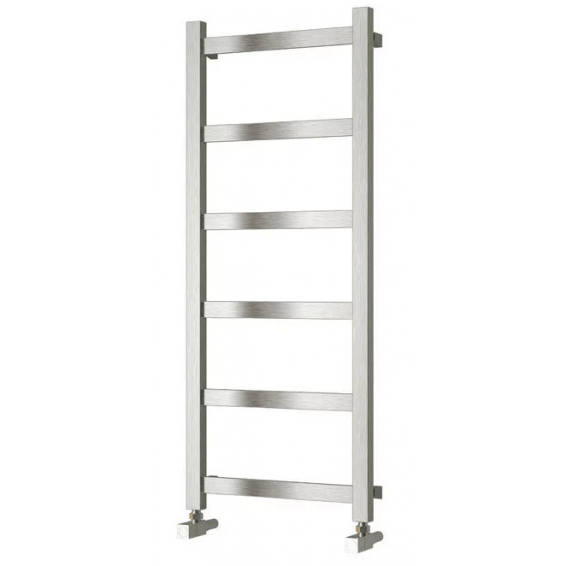 Reina Mina Brushed Stainless Steel Heated Towel Rail 1170 x 480mm
