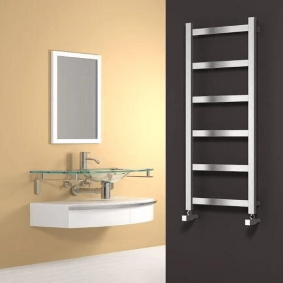 Reina Mina Stainless Steel Heated Towel Rail 1170 x 480mm