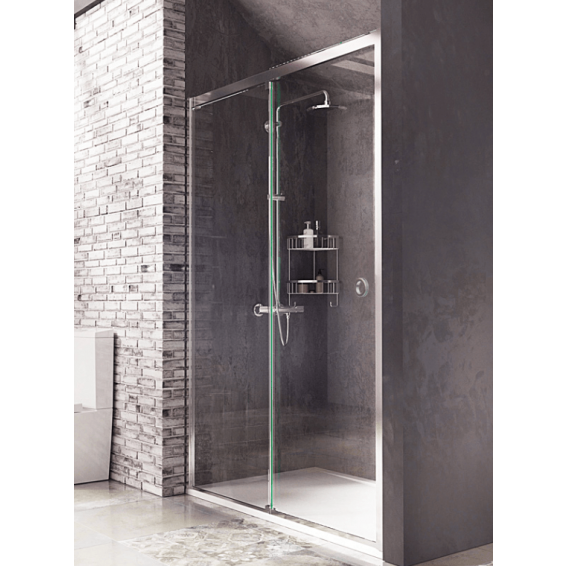 Roman Decem Sliding Shower Door with Finger Pull Handle Alcove Fitting Right Hand 1200mm