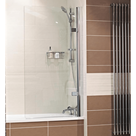 Roman Lumin8 8mm Frameless Hinged Bath Screen 835mm Right Hand