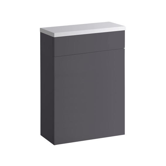 Roper Rhodes 570 Back To Wall WC Unit with Worktop Gloss Dark Clay
