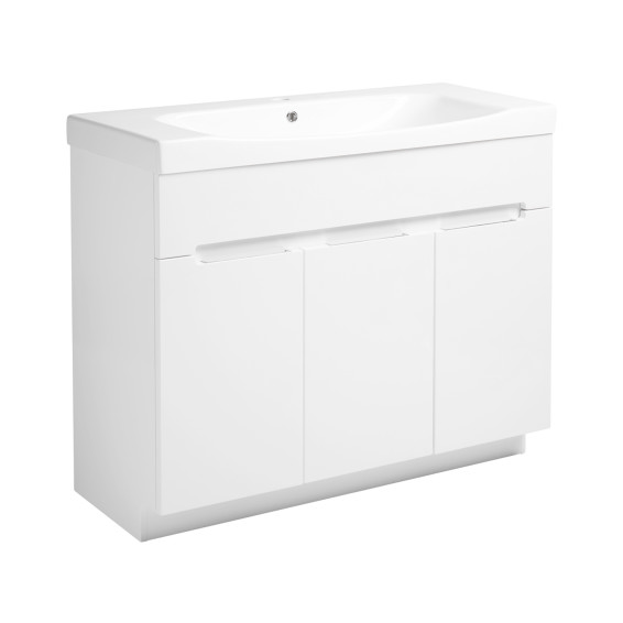 Roper Rhodes Diverge 1000mm Freestanding Unit with Ceramic Basin Gloss White