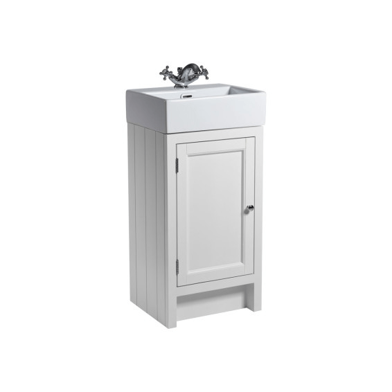 Roper Rhodes Hampton 450mm Cloakroom Unit with Basin Chalk White