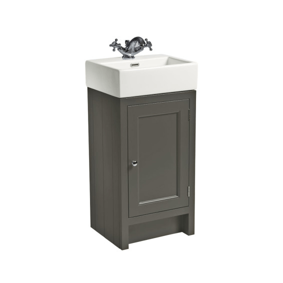 Roper Rhodes Hampton 450mm Cloakroom Unit with Basin Pewter