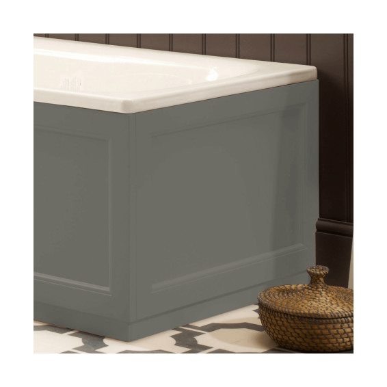Roper Rhodes Hampton 700mm Pewter Bath End Panel