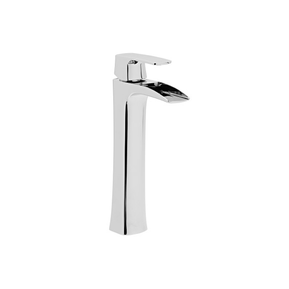 Roper Rhodes Sign Tall Open Spout Basin Mixer Tap with Click Waste