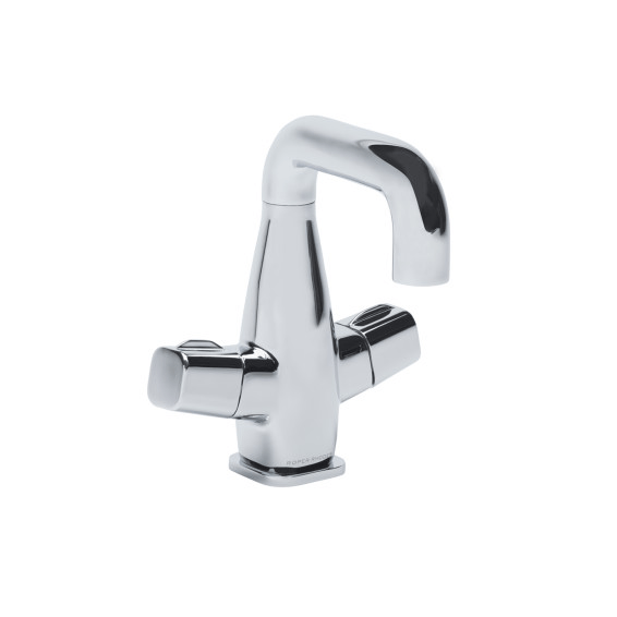 Roper Rhodes Veer Swivel Spout Basin Mixer Tap with Click Waste