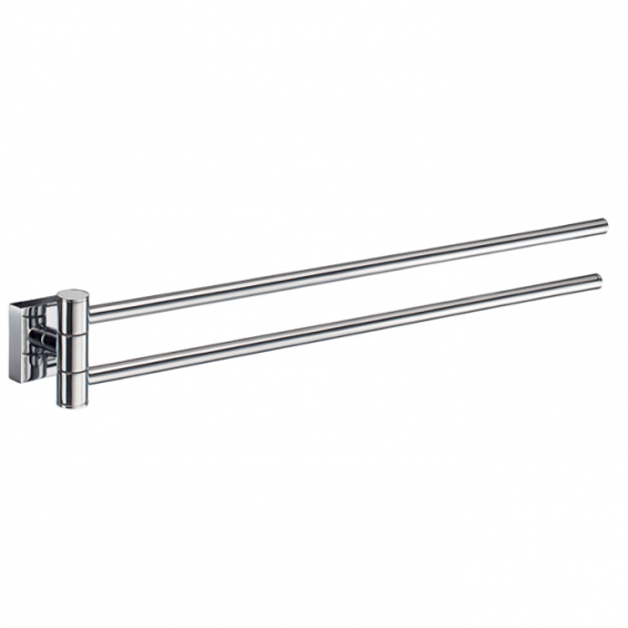 Smedbo House Swing Arm Towel Rail Polished Chrome 440mm