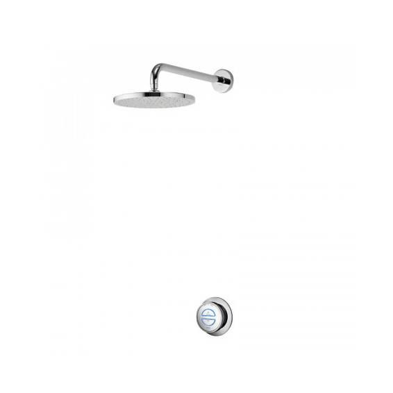 Aqualisa Quartz Smart Digital Concealed Shower with Fixed Head HP/Combi
