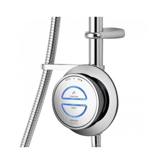 Aqualisa Quartz Smart Digital Exposed Shower with Adjustable Head HP/Combi