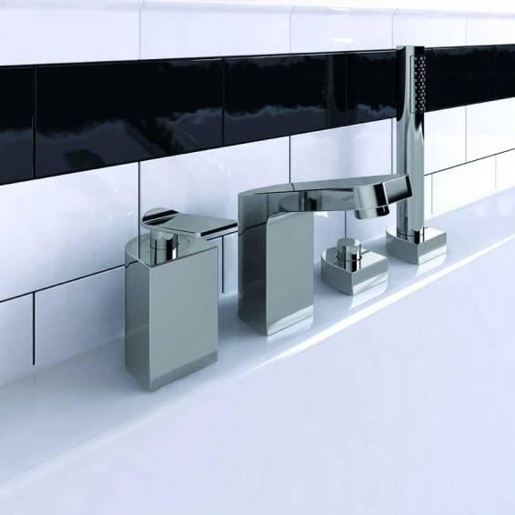 Bristan Alp Four Hole Bath Shower Mixer Chrome