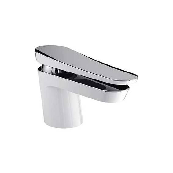 Bristan Claret One Hole Bath Filler White & Chrome
