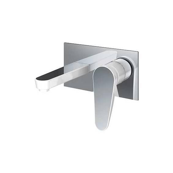 Bristan Claret Wall Mounted Bath Filler White & Chrome