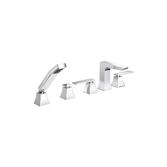 Bristan Ebony 5 Hole Bath Shower Mixer Chrome