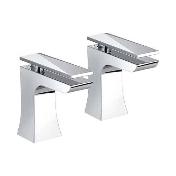 Bristan Ebony Bath Taps pair Chrome