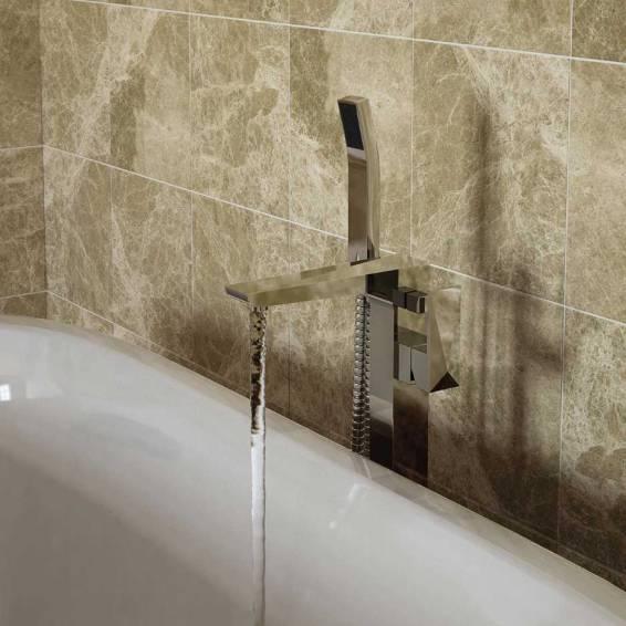 Bristan Ebony Free Standing Bath Shower Mixer Chrome