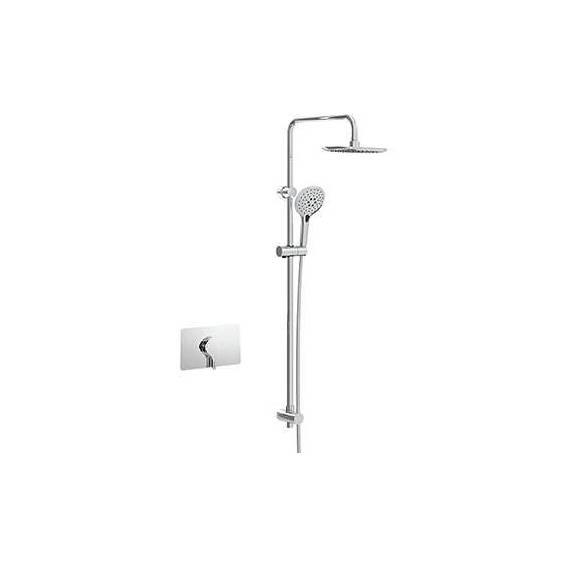 Bristan Flute Thermostatic Recessed Diverter Shower with Fixed & Adjustable Heads