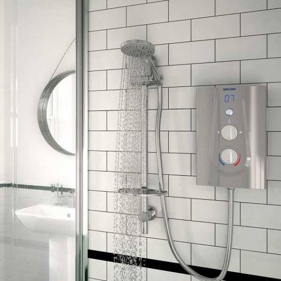 Bristan Joy Thermostatic 8.5kw Electric Shower Matt Silver