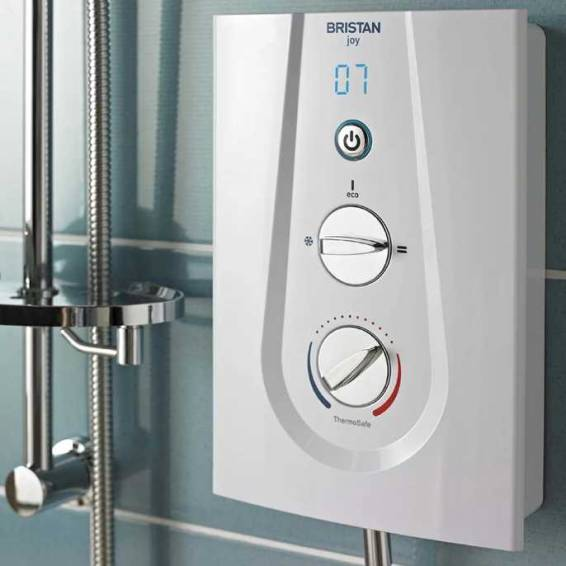 Bristan Joy Thermostatic 8.5kw Electric Shower White