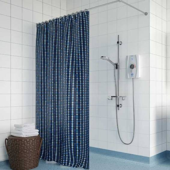 Bristan Joy Care Thermostatic 8.5kw Electric Shower with 1m Rail & Handle Dial White